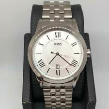 Men's Hugo Boss Date Designer Stainless Steel Watch Roman Numerals Classic HB851