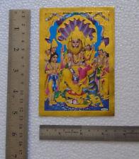 "Lord Vishnu's Half-lion Narsimha Avatar * POSTER (Golden Foiled Paper 3.5""x5"")"