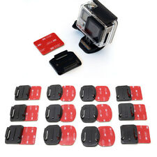 12Pcs Helmet Accessories Curved Flat Adhesive Mount For Gopro Hero 1/2/3/3+/4
