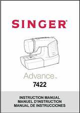 Singer 7422 Advance Sewing Machine Instruction Manual