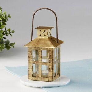25 Vintage Antique Gold Distressed Lantern Wedding Bridal Shower Party Favors