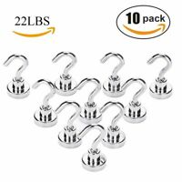 Magnetic Hooks,22 LB Heavy Duty Neodymium Rare Earth Magnet Hook with 3 Layers'