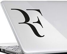 ROGER FEDERER #1 VINYL DECAL wimbledon Tennis logo sticker ipad mac laptop MOD