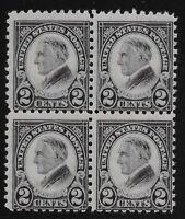 US Scott #612, Block of 4 1923 Harding 2c Fine MNH