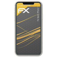 atFoliX 3x Lámina Protectora de Pantalla para Apple iPhone 11 mate y antigolpes