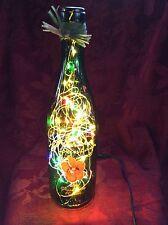 NEW Bling RARE Electric LAMP 750ml NAKED MOUNTAIN Empty WINE BOTTLE Multi LEDs