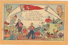 Advertising Postal Card - Jolly Junior Sunshine Club Buffalo NY Courier Cartoons