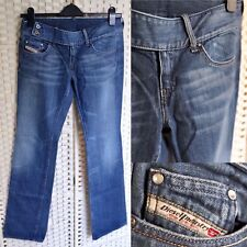 18003111 Diesel Bootcut Flare Denim Jeans 29W 34L Low Rise Mid Blue Stonewash Made  Italy
