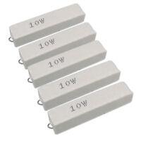 US Stock 5pcs 4 ohm 4RΩJ 10 watt Axial Ceramic Cement Power Resistor 10W