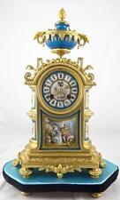 Antico Francese 19thc GT Bronzo & Orologio mensola in porcellana di Sèvres sulla base-Vincenti