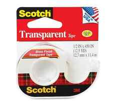 Scotch Transparent Tape 1/2 Inch X 450 Inches 1 Each