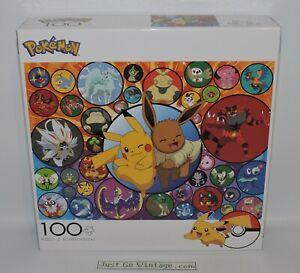 Pokemon 100 Piece Jigsaw Puzzle Pikachu Eevee Buffalo Games, 2020, 100% COMPLETE