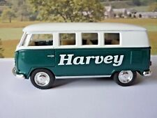 PERSONALISED NAME Green VW Camper Van Bus Boys Toy Model Car Birthday Present