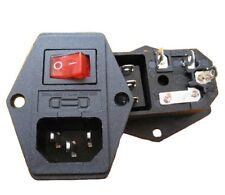 3 pin IEC 320 C14 Interruttore backup Presa 10A 250V BARTOP ARCADE CABINET #