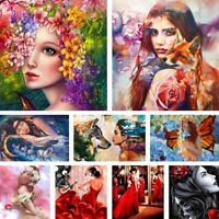 Beauty Lady Women DIY Paint By Number Kit Acrylic Art Oil Painting Home Decor