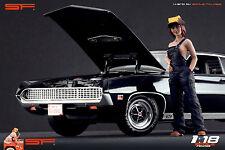 1/18 Car repair girl figure VERY RARE !! for1:18 CMC Autoart Ferrari Mercedes