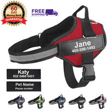 Personalized Dog Harness No-Pull Reflective Vest Service Handle XS/Small/Large
