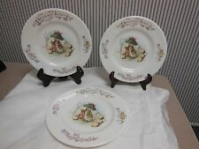 "Royal Albert Beatrix Potter 1986 BENJAMIN BUNNY PLATES  6 1/2"", Set of Three"