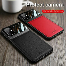 For Samsung S20 Ultra Note 10 S10 S9 Plus Leather Rubber Shockproof Case Cover