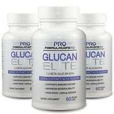Glucan Elite - 1,3D Beta Glucan 85% - 3 bottles