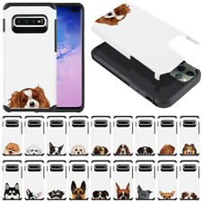 "For Samsung Galaxy S10+ / S10 Plus G975 6.4"" Dog Impact Hybrid Case Cover"