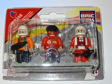 Racing Set of 3 Figures People BricTek Construction Building Block Toy