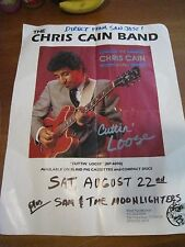 Chris Cain Band blues guitar 22x18 Blind Pig Records 1990s promo concert poster