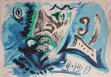 Lithographie signée numér. d'Edouard Pignon Picasso 1970 tête guerrier Grèce ***