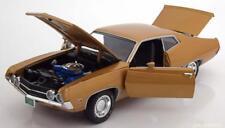 FORD TORINO COBRA 1970 GOLD METAL ERTL AMM1039 1/18 1/18 AUTOWORLD MATT BLACK
