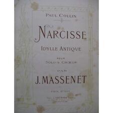 MASSENET Jules Narcisse Chant Piano 1879 partition sheet music score