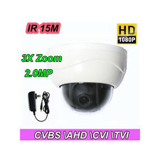 2.5'' 3X ZOOM HD 1080P 2.0MP Mini PTZ CVBS-AHD-TVI-CVI Dome Security Camera IR