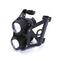 Dual Stacked Motorbike Headlight Streetfighter Projector Dual Lights - 50mm 51mm