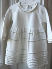 BABY DIOR blanc lait Robe Tricot 9 mois