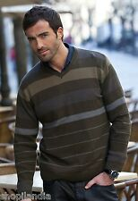 Jersey Hombre Suéter Knit Tricot Sweater Maglione Pull MASSANA SPAIN Talla L