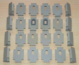 LEGO Ritter Bauteile Burg Castle Palisaden 1x5x6 3x3 alt hellgrau 6060 6061 6062