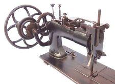 ANTIQUE 1878 RAREST INDUSTRIAL SEWING MACHINE DOUBLE BIG GEAR MECHANISM 80 LBS