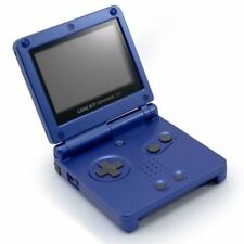 Nintendo Gameboy Advance SP - Blue with Graphic Skin & Games