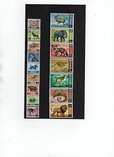KENYA 1966-71 WILDLIFE Definitive Issue Complete VALUE SET 16 values (1 each)MNH