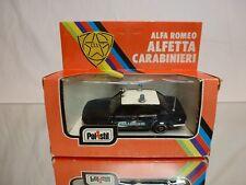 POLISTIL CE45 ALFA ROMEO ALFETTA CARABINIERI - BLUE 1:43 - GOOD IN BOX