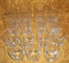 Lot of 15 Collectible Crystal Glasses 8-12 oz / 7-6 oz glasses - made in Sweden