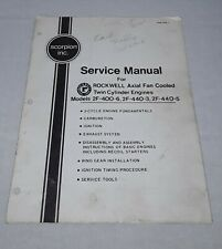 1972 SCORPION SNOWMOBILE SERVICE MANUAL ROCKWELL AXIAL FAN COOLED ENGINES
