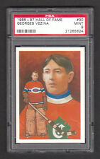 Georges Vezina Montreal Canadiens #30 1985 Hockey Hall of Fame Card PSA 9 MINT