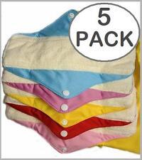 5x  Bamboo Organic Reusable Cloth MENSTRUAL SANITARY MATERNITY PADS Cotton Towel