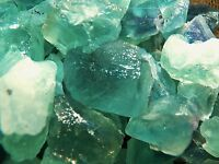 500 Carat Lots of Green Fluorite Rough - Plus a FREE Faceted Gemstone