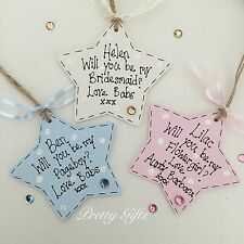 Personalised Will You Be My Bridesmaid Pageboy Flower Girl Star Keepsake Gift