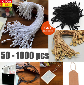 Clothing Price Tag Bullet Head Hang Swing Tag Cotton String Lock Ties Twine