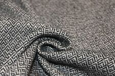 Double-Faced Black and White Diamond Weave Wool Coating from Woolrich