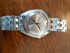 Zodiac Stainless Steel Olympos Automatic Watch w/ Mystery Dial and vintage band