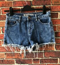 New Look Hot pants High Waisted Denim Shorts Uk 8 Summer Holiday Festival Frayed