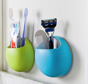 Home Bathroom Toothbrush Wall Mount Holder Sucker Suction Organizer Cup Rack
